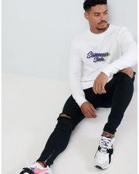 ASOS DESIGN - Muscle Sweatshirt With Summer Sesh Slogan Print - Lyst