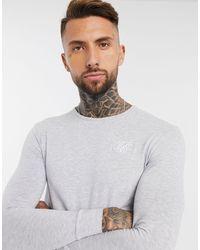 SIKSILK Core Gym Long Sleeve T-shirt - Grey
