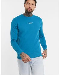 Good For Nothing Sweatshirt With Front Branding - Blue