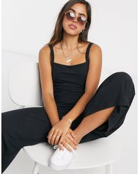 Rip Curl Wide Leg Jumpsuit - Black