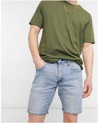 Levi's 412 - Pantaloncini di jeans slim lavaggio chiaro whenever wherever advanced - Blu