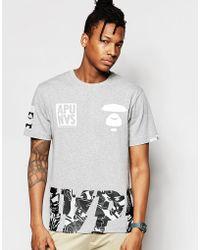 Aape - By A Bathing Ape Theme T-shirt - Lyst