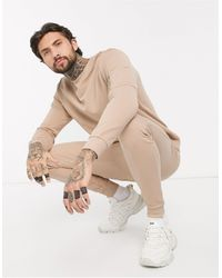 ASOS Tracksuit With Ma1 Pockets - Natural