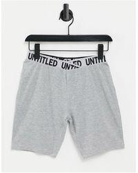ASOS legging Short With Elastic Waistband Detail - Grey
