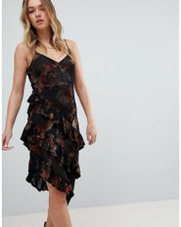 Honey Punch - Layered Cami Dress In Sheer Velvet Burnout - Lyst