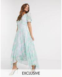 Ghost Платье Макси С Цветочным Принтом -мульти - Синий
