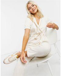 Miss Selfridge Utility Jumpsuit - White