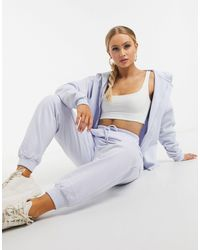 ASOS Tracksuit Oversized Zip Through Hoody / Oversized Sweatpants - Natural