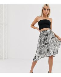 Boohoo Exclusive Floaty Midi Skirt With Side Split In Leopard - Multicolour
