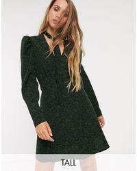 TOPSHOP Mini Shirt Dress - Green