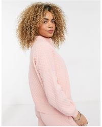Collusion Quilted Knit Sweater Co-ord - Natural