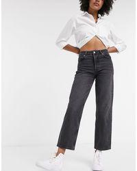 SELECTED Femme Straight Leg Jeans - Grey