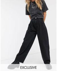 Reclaimed (vintage) Inspired The '97 High Waist Wide Leg Mom Jean - Black