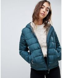 Vero Moda - Cropped Hooded Padded Jacket - Lyst