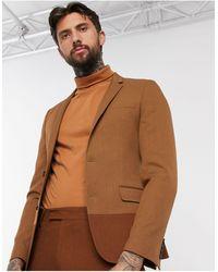 ASOS Skinny Suit Jacket - Brown