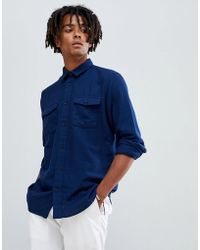 SELECTED - Brushed Cotton Overshirt In Regular Fit - Lyst