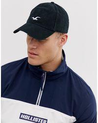 """Hollister Cappellino nero con scritta """"dad"""" e logo iconico"""
