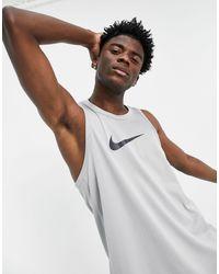 Nike Basketball Swoosh Tank - Grey