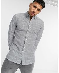 French Connection Slim Fit Multi Shape Printed Shirt - Blue