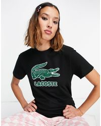 Lacoste - Черная Футболка С Логотипом В Виде Крокодила -черный Цвет - Lyst