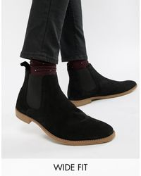 ASOS Wide Fit Chelsea Boots - Black