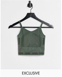 PUMA Зеленый Бесшовный Спортивный Бюстгальтер Training – Эксклюзивно Для Asos-зеленый Цвет