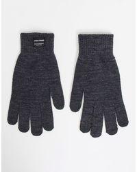 Jack & Jones Серые Вязаные Перчатки -серый