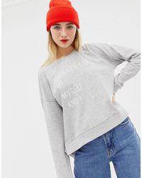 ONLY Naughty List - Kerst-sweatshirt - Grijs