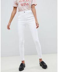 ASOS Ridley - Jeans skinny bianco ottico a vita alta
