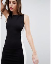 French Connection | Ponte Contrast Panel Dress | Lyst