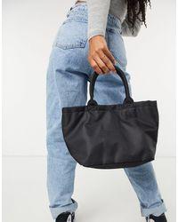Monki Edie Recycled Tote Bag - Black
