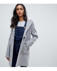ASOS Asos Design Tall Classic Duffle With Pocket Detail - Gray