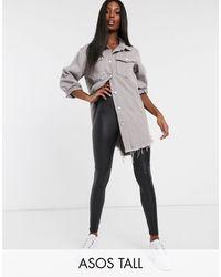 ASOS Asos Design Tall Leather Look legging - Black