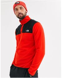 The North Face Tka Glacier Snap Fleece - Red
