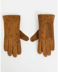 Barneys Originals Barney's Originals Real Suede Gloves - Brown
