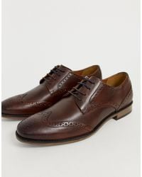River Island Leather Brogue - Brown