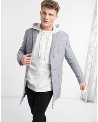 Ben Sherman 3 Button Overcoat - Grey