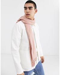 ASOS - Sciarpa rosa chiaro con frange - Lyst