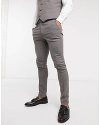 ASOS Wedding Super-skinny Suit Pants - Gray