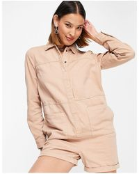Noisy May – Jeans-Playsuit - Natur