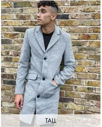 Another Influence - Tall Wool Blend Over Coat - Lyst