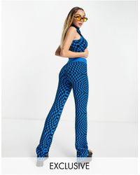 Collusion Pantalones - Azul