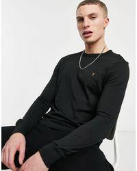 Farah Worthington Organic Cotton Long-sleeved T-shirt - Black