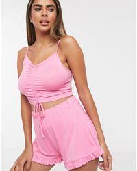 ASOS Розовая Пижама С Шортами - Розовый