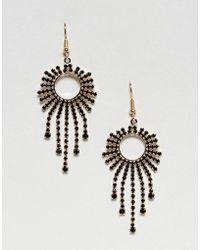 Nylon | Rhinestone Drape Earrings | Lyst