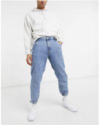 Bershka Denim sweatpants - Blue