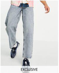 Collusion X014 - Jean large style années 90 - vintage délavé - Bleu