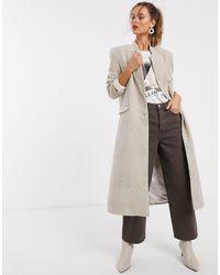 UNIQUE21 Пальто В Клетку -белый - Многоцветный