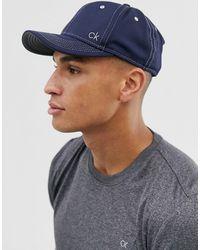 Calvin Klein – Marineblaue Netzstoff-Kappe