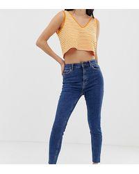 Bershka Jeans Met Superhoge Taille - Blauw